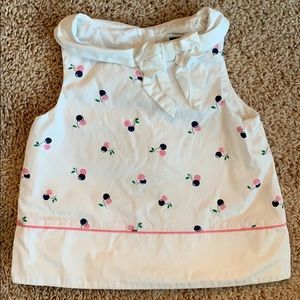 Janie and Jack cherries collared tank size 12-18mo